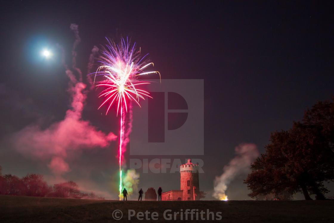 """Bristol Fireworks"" stock image"