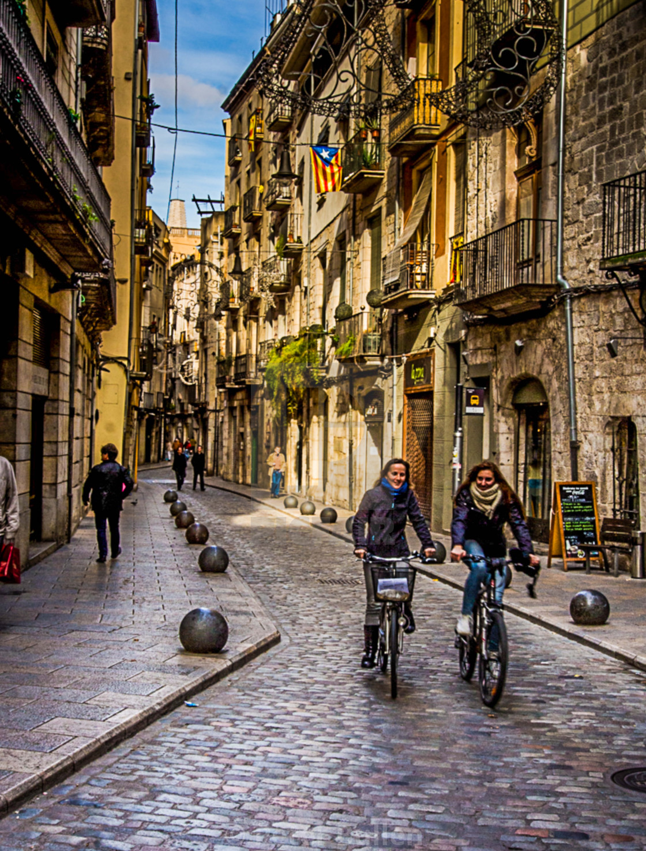 """Girona Street"" stock image"