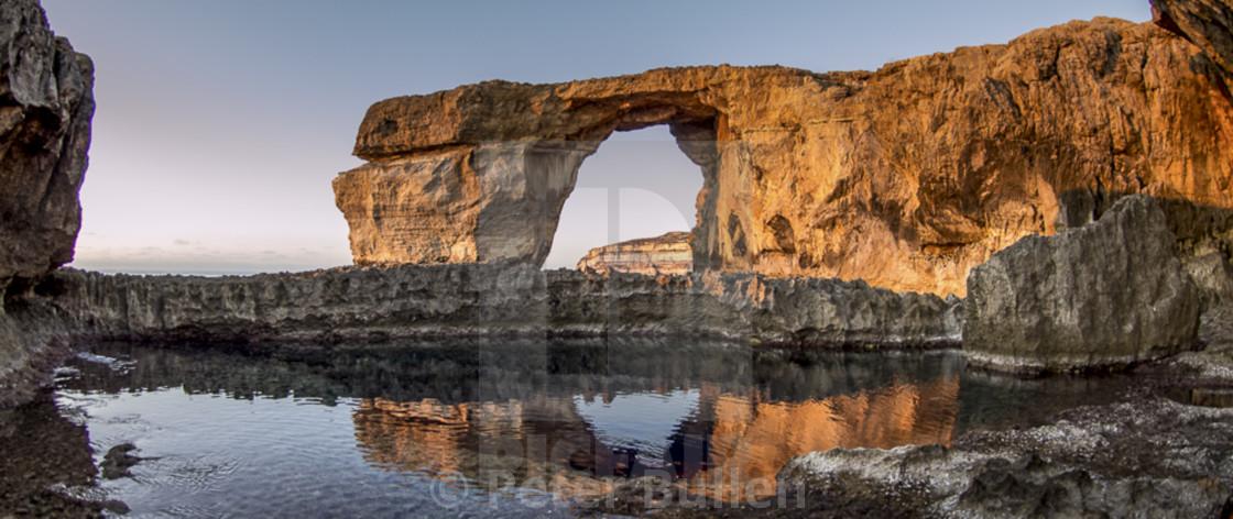 """Azure Window Dwejra before the fall 3"" stock image"