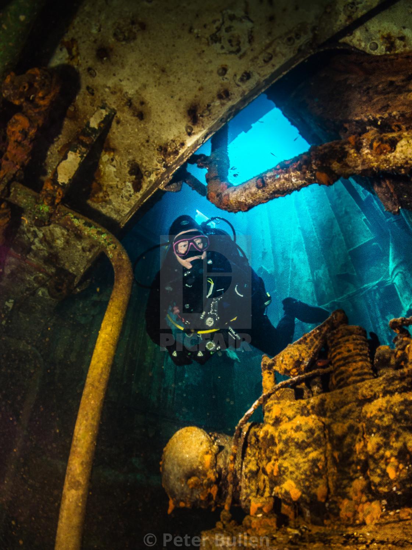 """Karwela Wreck Engine room"" stock image"