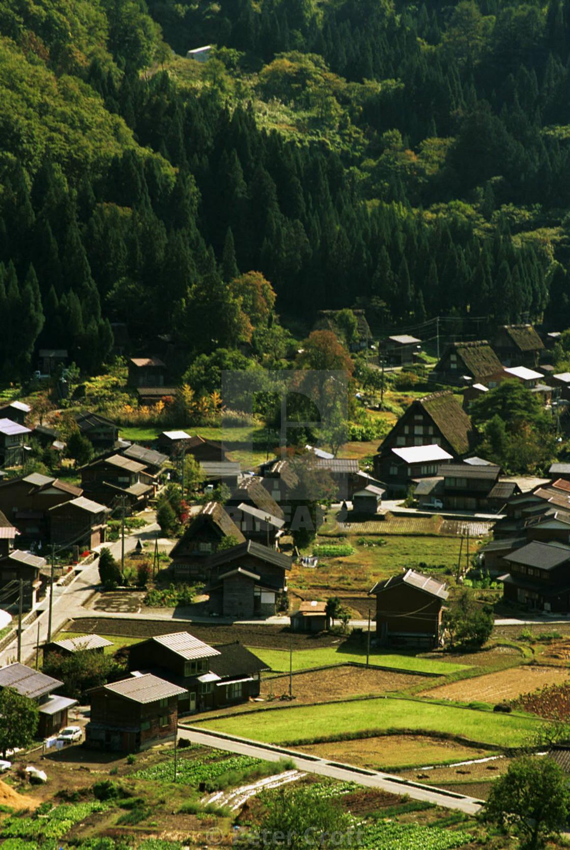 """""""Rural village, Ogimachi, Japan."""" stock image"""