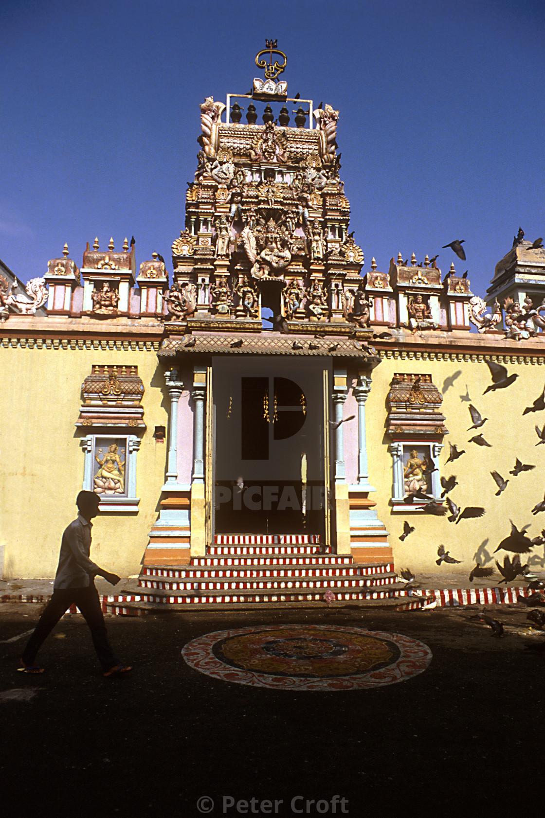 """""""A Hindu temple, Penang, Malaysia."""" stock image"""