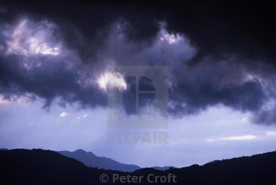 """Storm brewing, Cairns, Australia."" stock image"