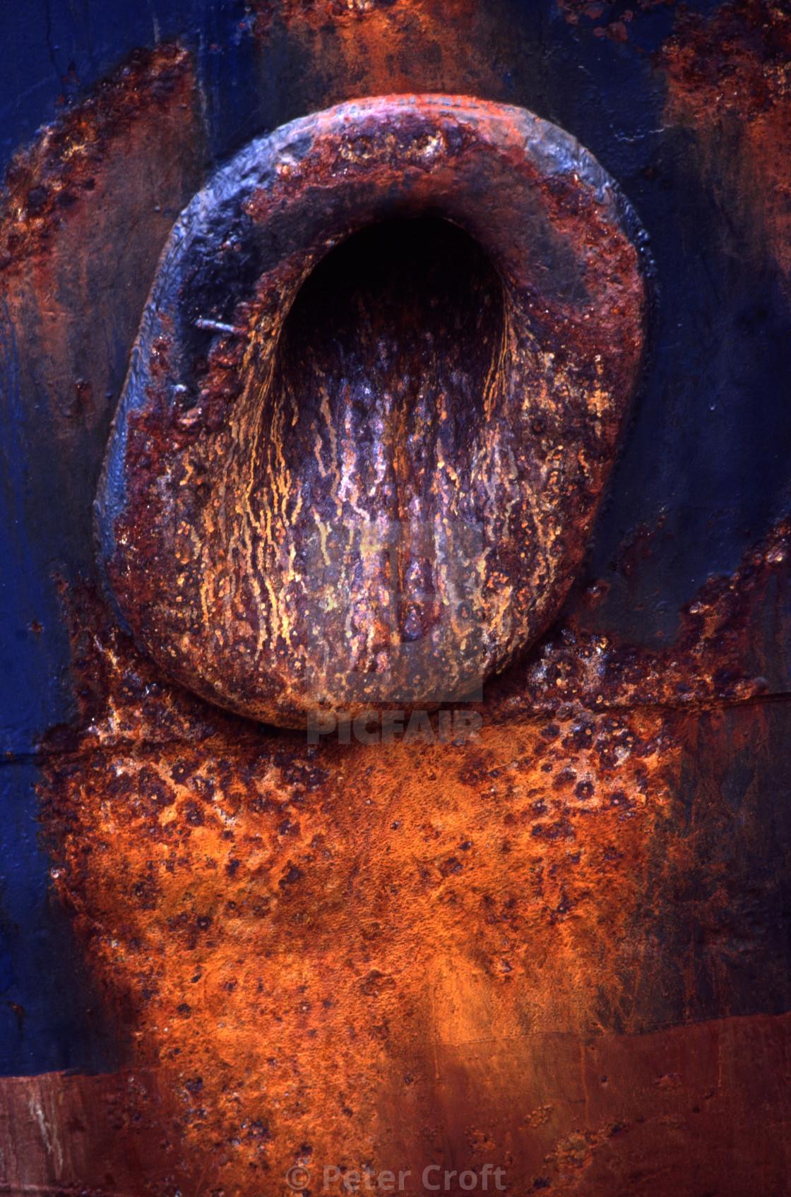 """Rusty anchor port, Cairns, Australia"" stock image"