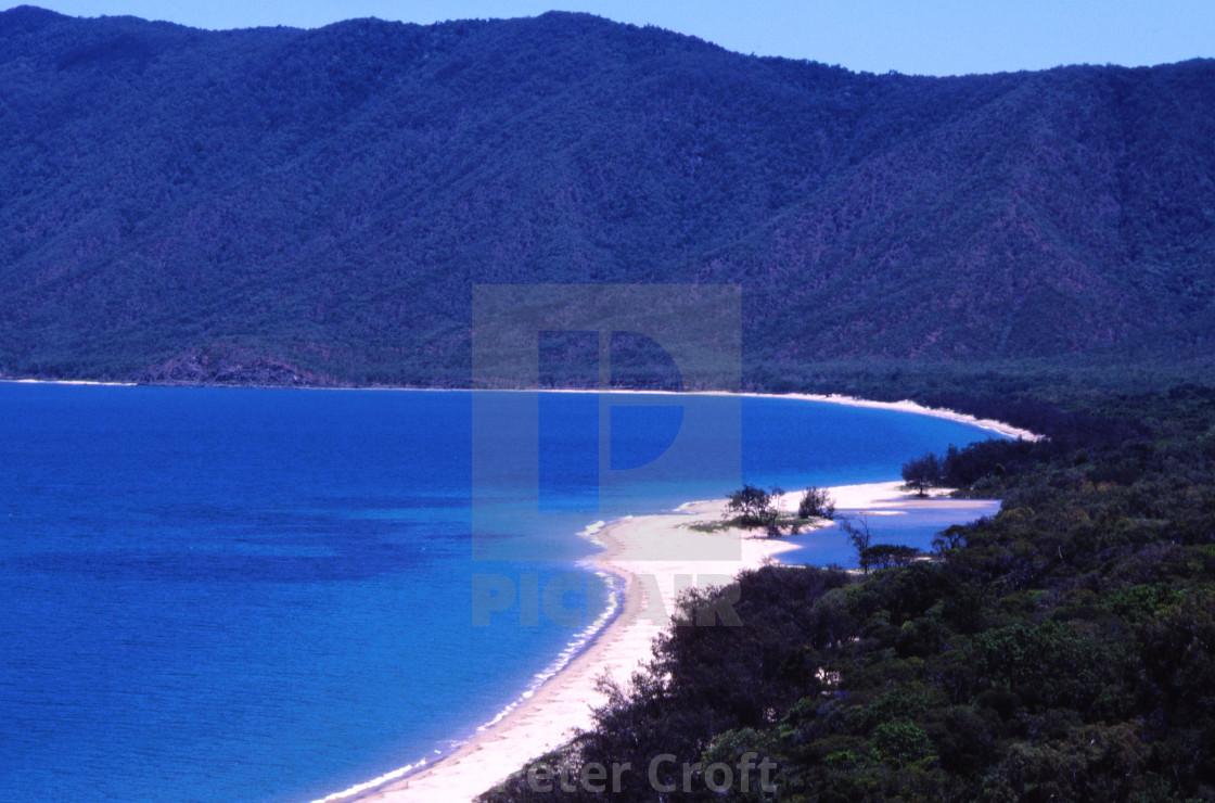 """""""Beatiful beach, Capt. Cook Highway, Queensland, Australia."""" stock image"""