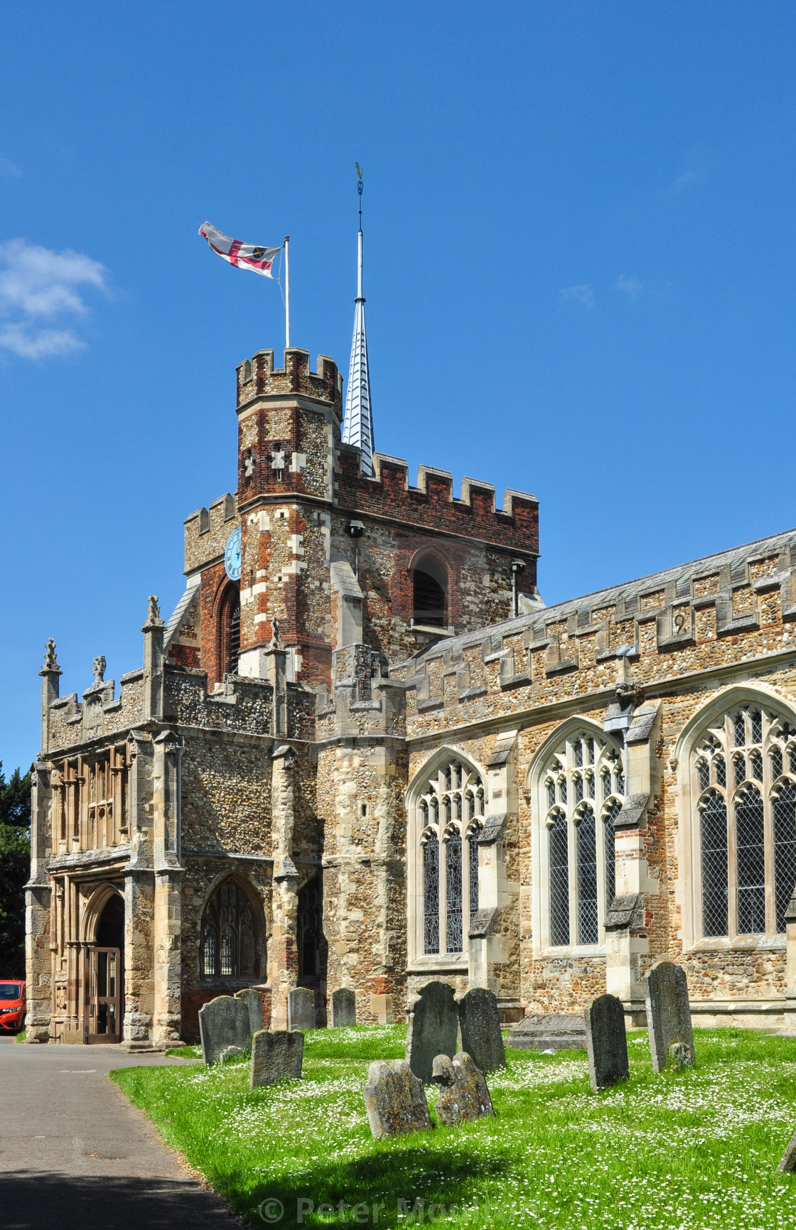 """St Mary's Church, Hitchin"" stock image"