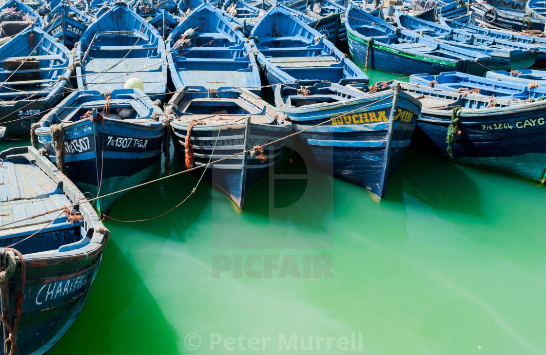 """Blue Boats"" stock image"