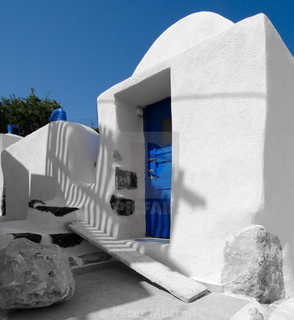 """""""House in Santorini"""" stock image"""