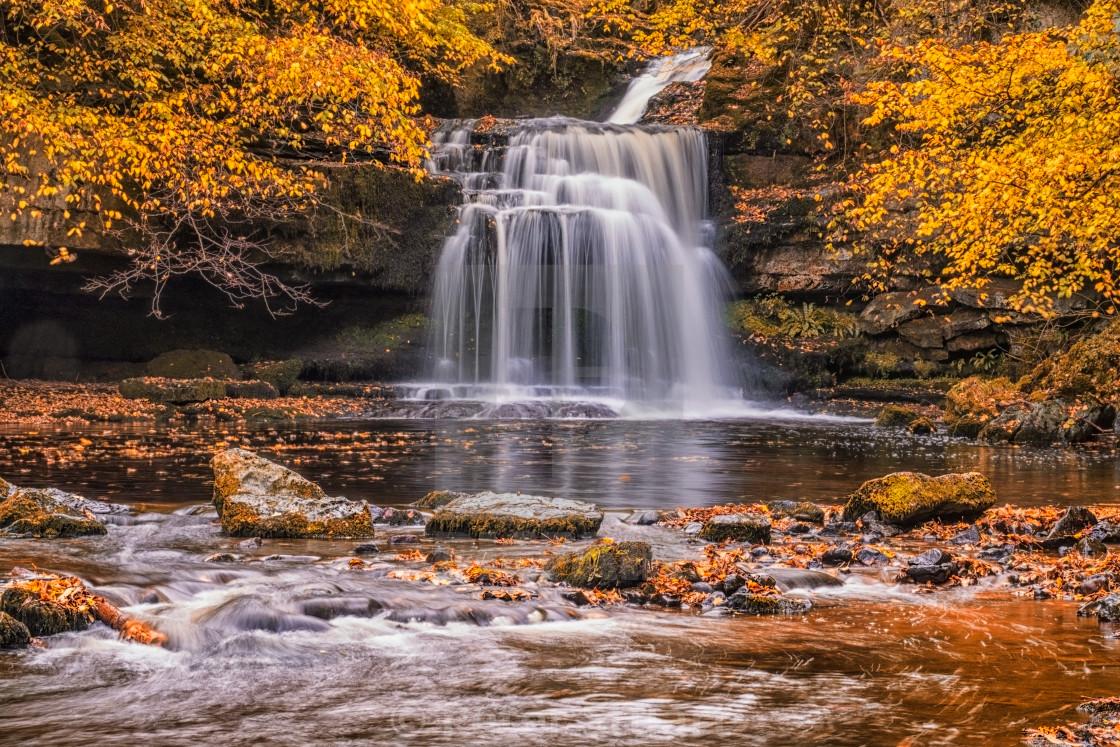 """Cauldron Falls at West Burton"" stock image"