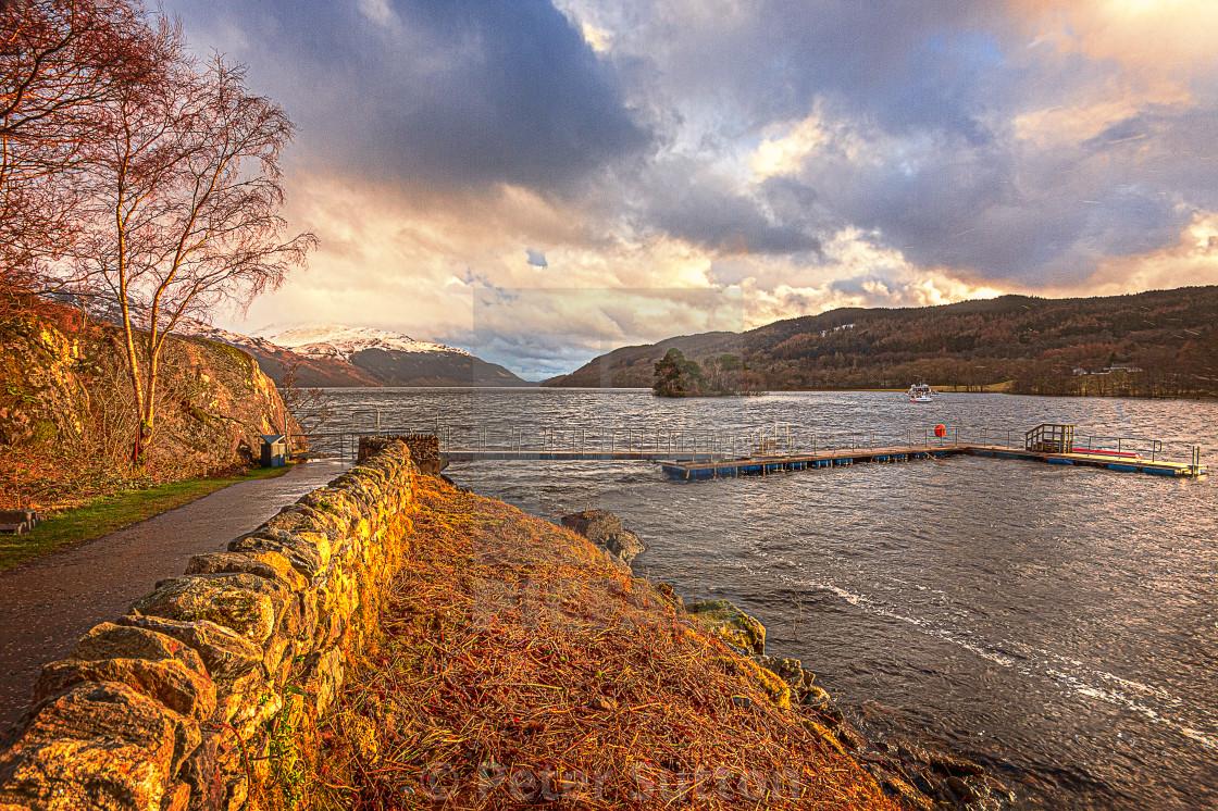 """Autumn colours at Loch Lomond"" stock image"