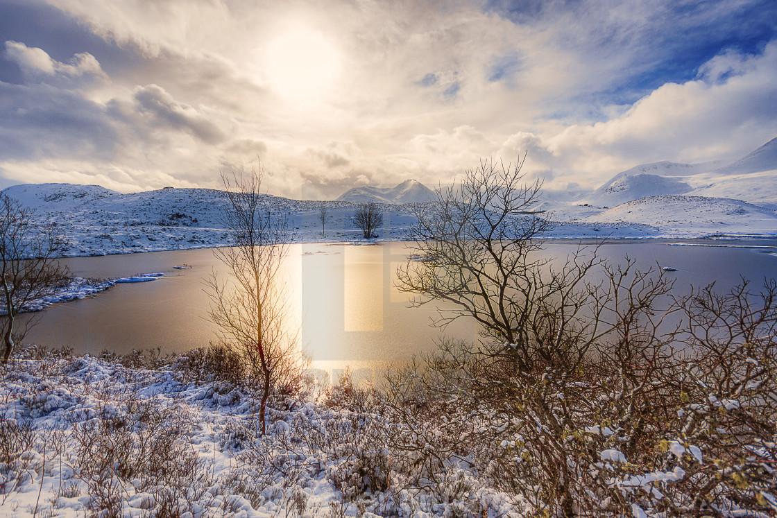 """Winter On Rannoch Moor"" stock image"