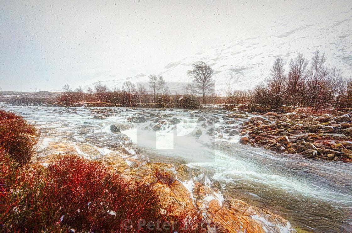"""""""Winter In Glencoe"""" stock image"""