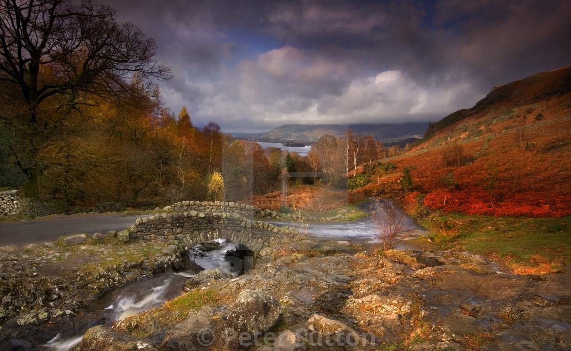 """""""Ashness Bridge, Cumbria"""" stock image"""