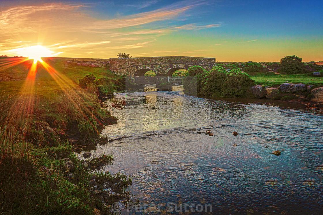 """Sunset On Dartmoor"" stock image"