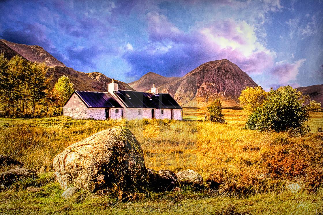 """Black Rock Cottage"" stock image"