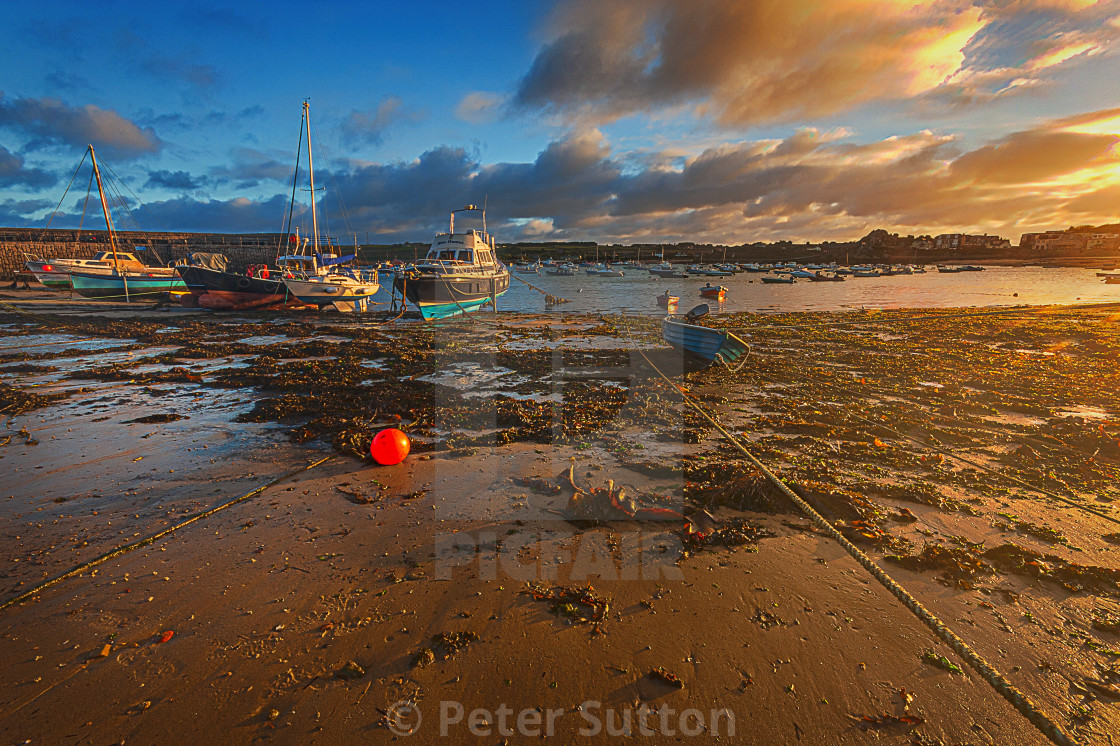 """""""Low Tide On St Mary's"""" stock image"""