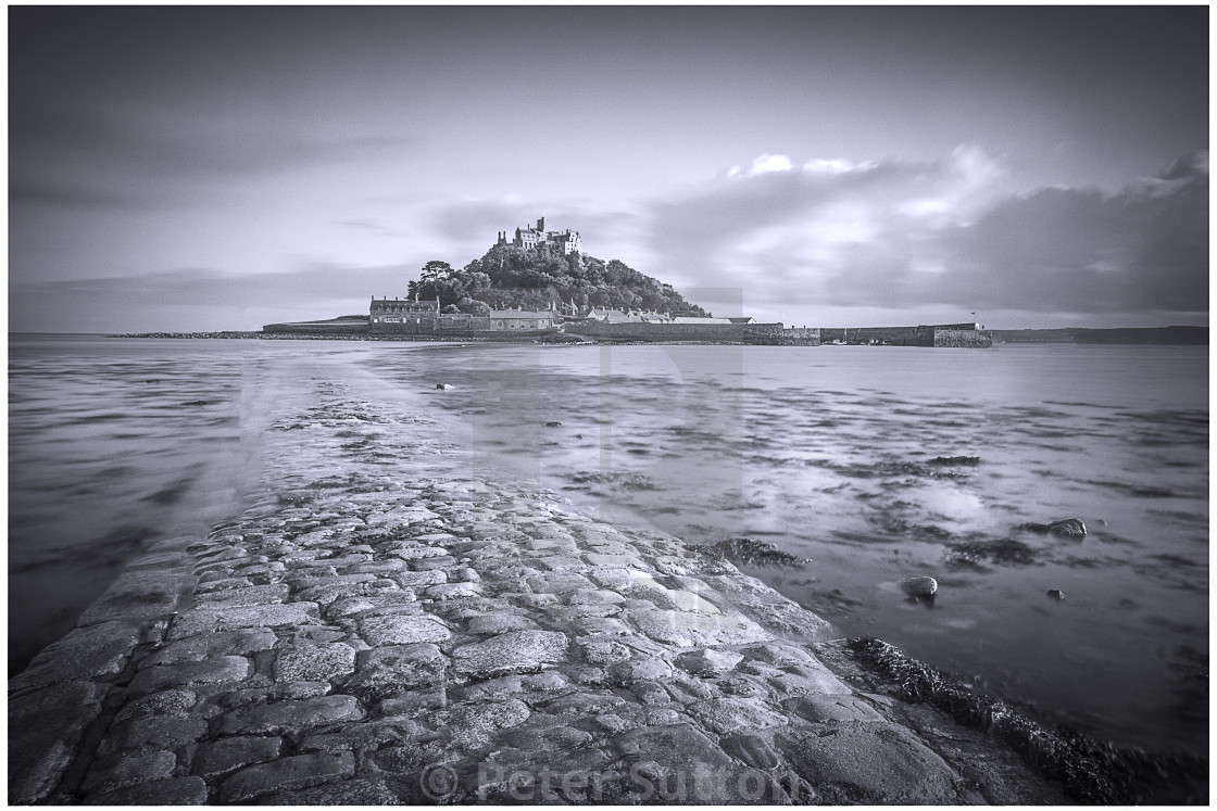 """""""The Causeway And St Michael's Mount"""" stock image"""