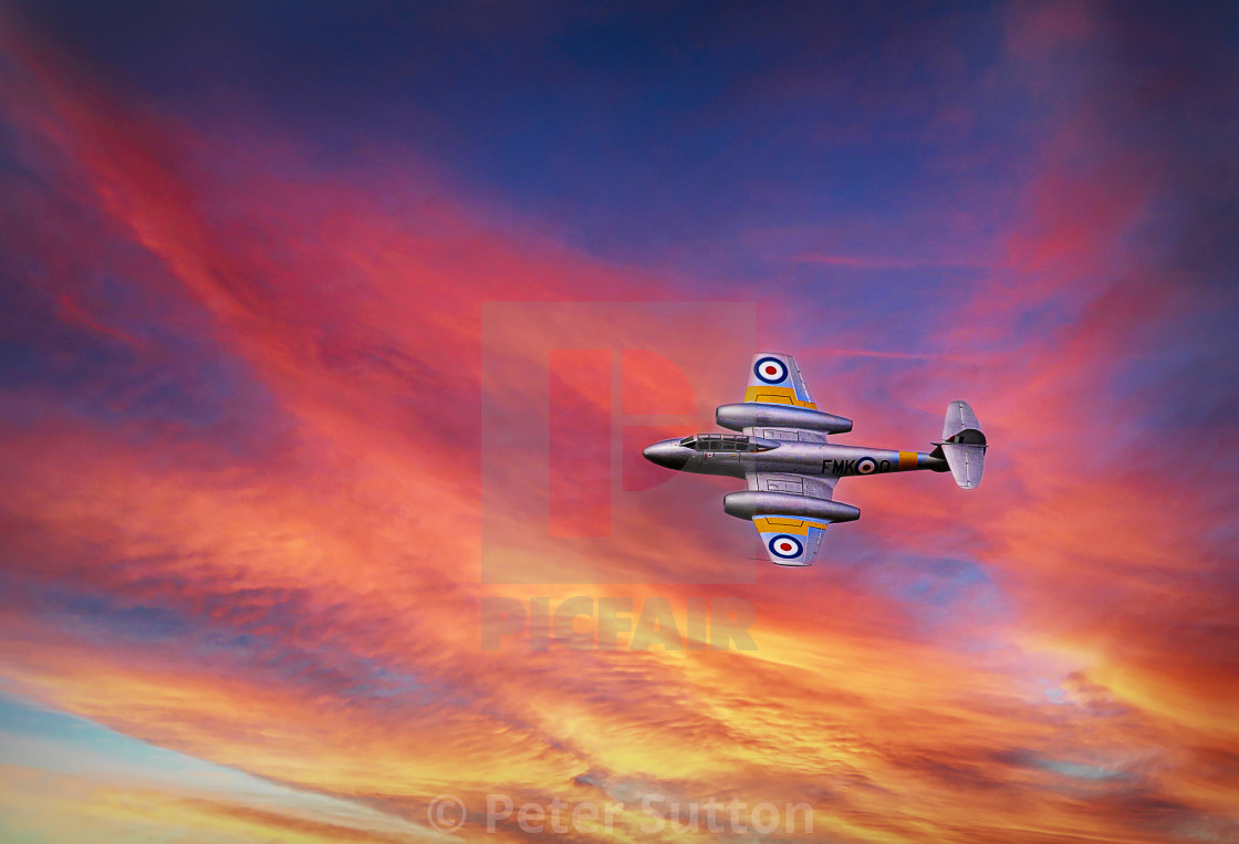 """""""Gloster Meteor"""" stock image"""