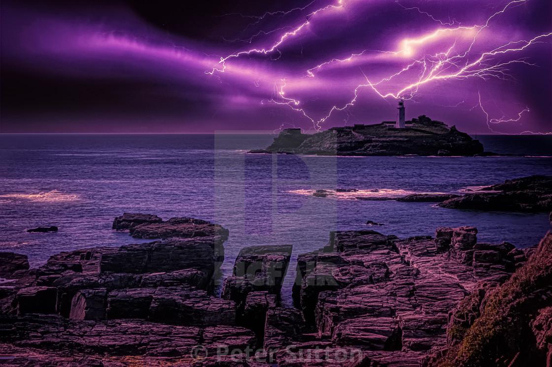 """Godrevy Storm"" stock image"