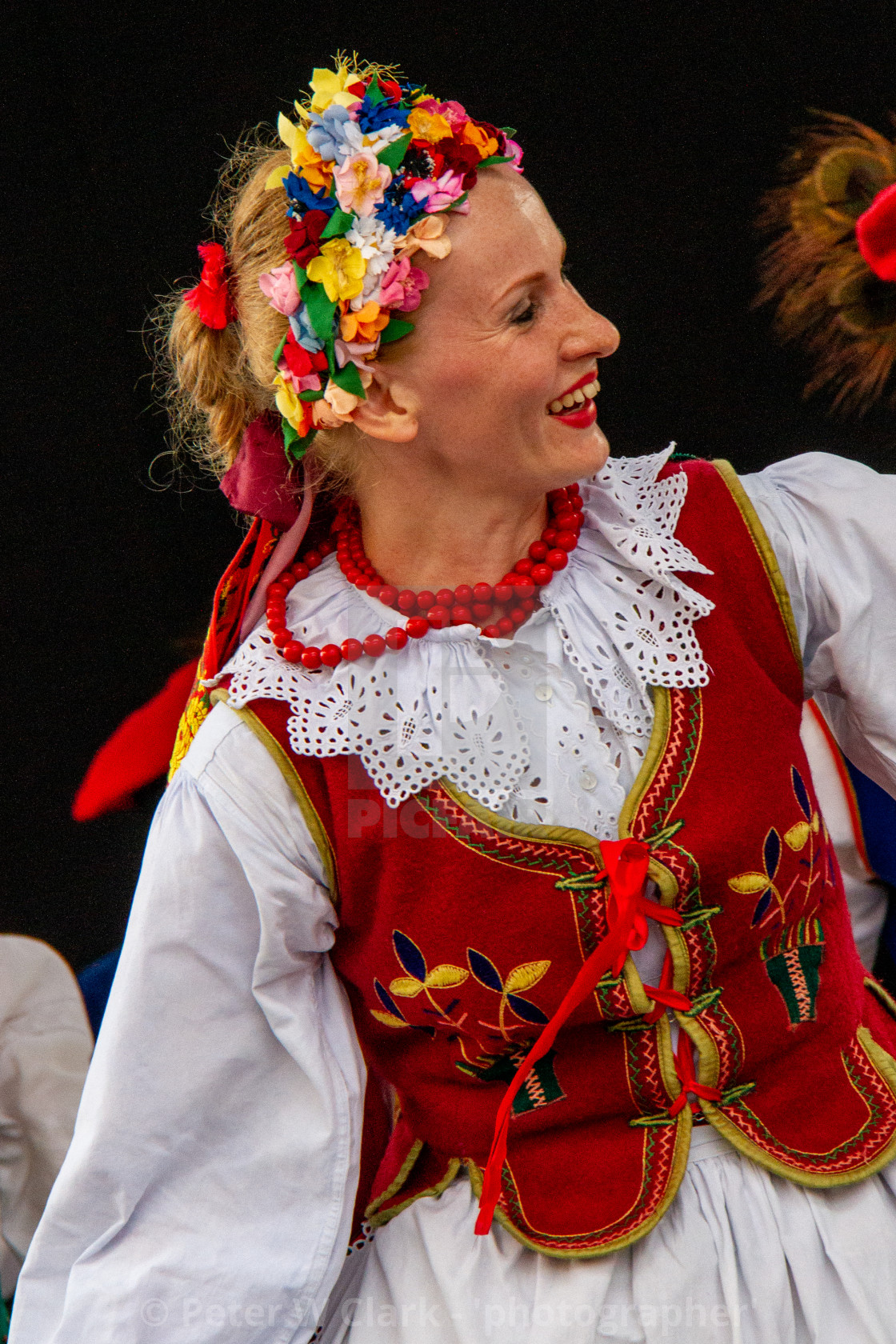 """Photographs of participants at theInternational Festival of Children and Youth Folk Groups. Krakow, Poland.2013"" stock image"
