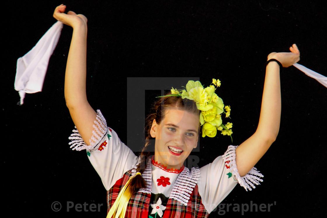 """Photographs of participants at the International Festival of Children and Youth Folk Groups. Krakow, Poland.2013"" stock image"