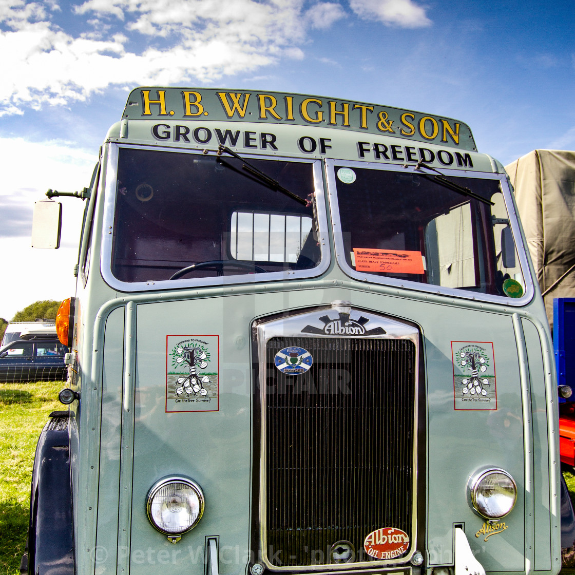 """""""Albion Truck on display at Otley 2012 Vintage Transport Extravaganza"""" stock image"""
