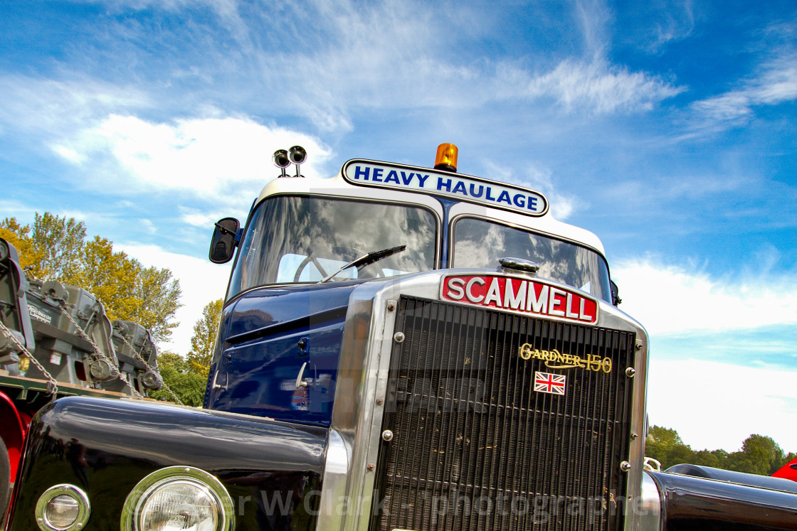 """""""Scammell Truck on display at 2012 Vintage Transport Extravaganza"""" stock image"""