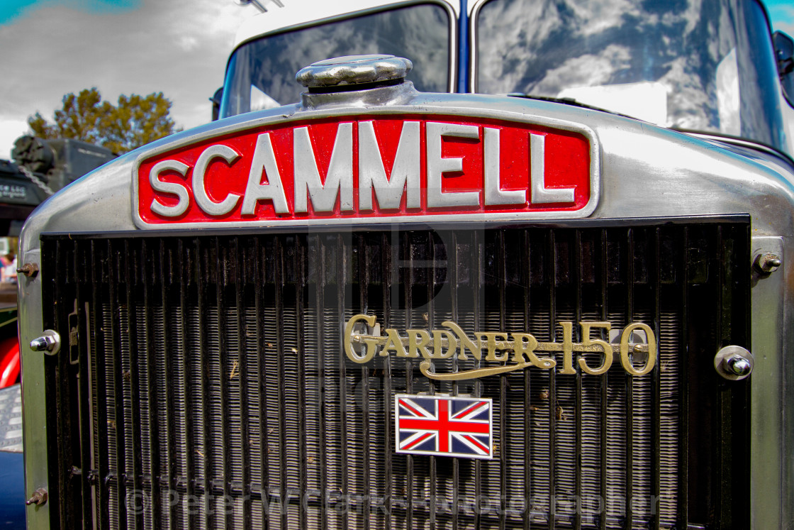 """""""Scammell Truck on display at Otley 2012 Vintage Transport Extravaganza"""" stock image"""