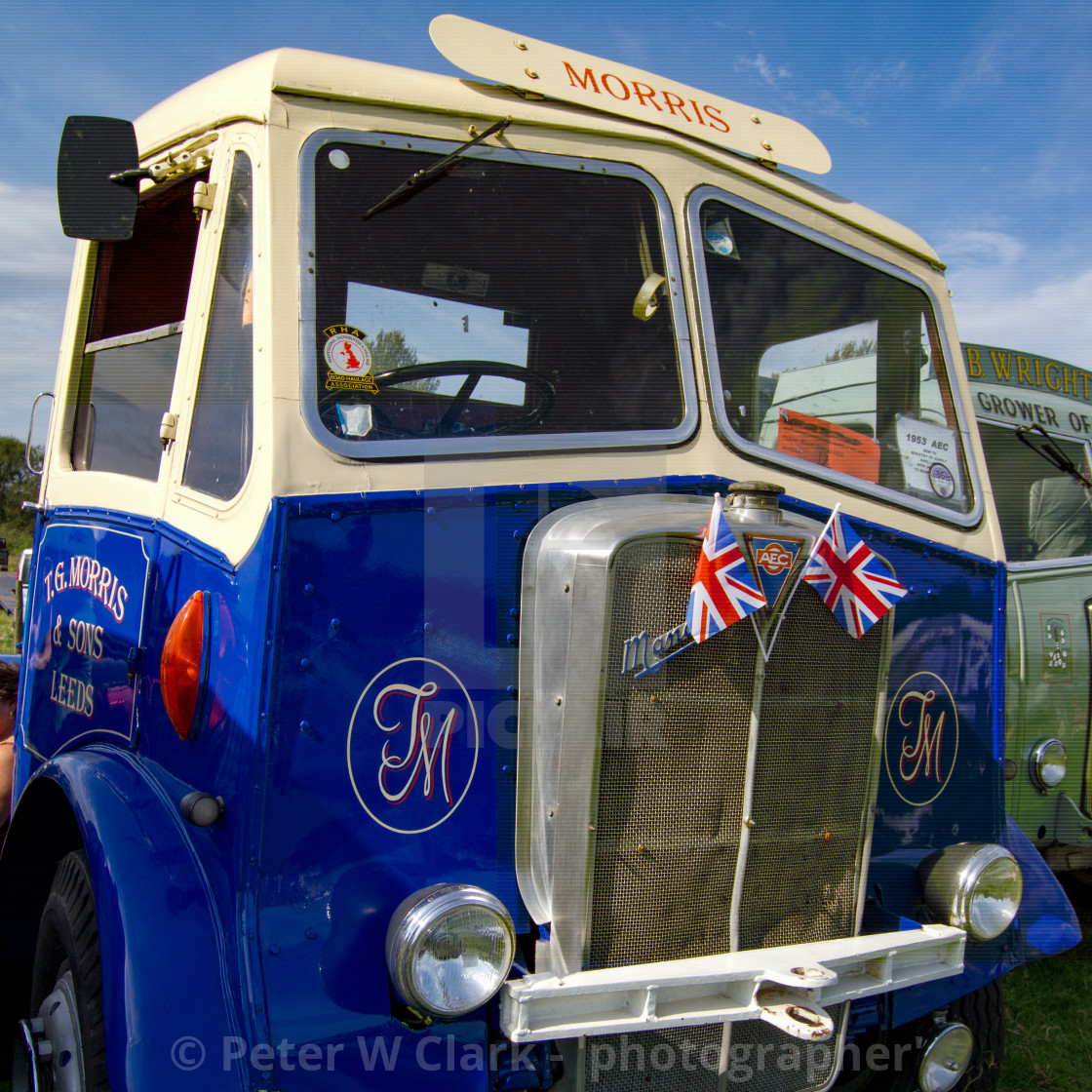 """""""1953 AEC Mammoth Truck on Display at Otley 2012 Vintage Transport Extravaganza"""" stock image"""