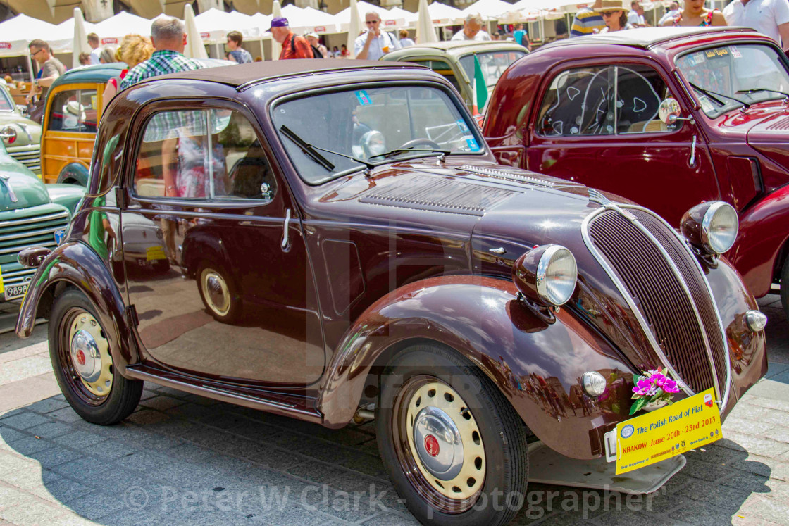 """""""The Polish Road of Fiat, Krakow 2013, June 20th-23rd"""" stock image"""