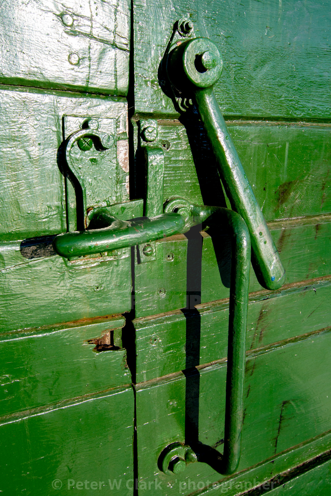 """Rolling Stock, Wagon Door Mechanism at Embsay and Bolton Abbey Steam Railway, Yorkshire."" stock image"