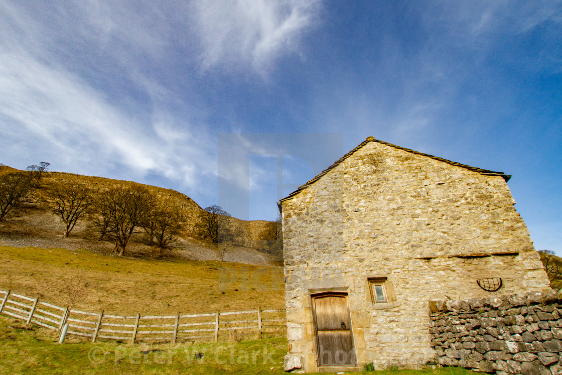 """Kilnsey Old Hall Barn, Kilnsey, Upper Wharfedale. Yorkshire."" stock image"