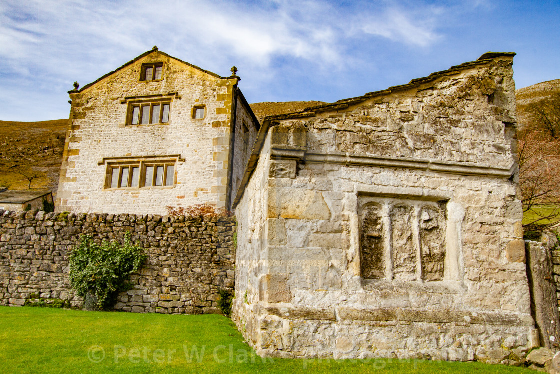 """Kilnsey Old Hall, Kilnsey, Upper Wharfedale. Yorkshire."" stock image"