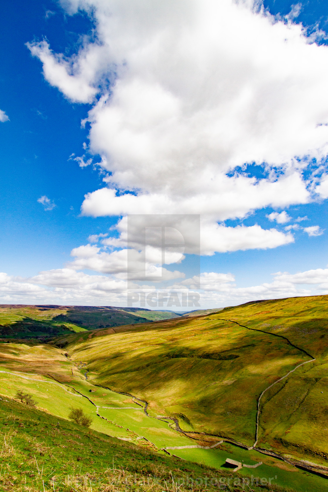 """""""Buttertubs Pass, High Pass Between Swaledale and Wensleydale"""" stock image"""