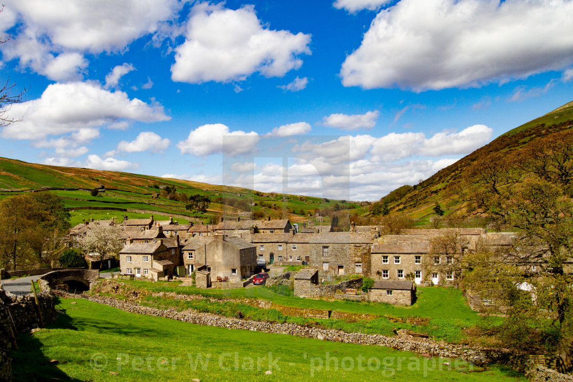"""Thwaite , a Small Village in the Yorkshire Dales."" stock image"