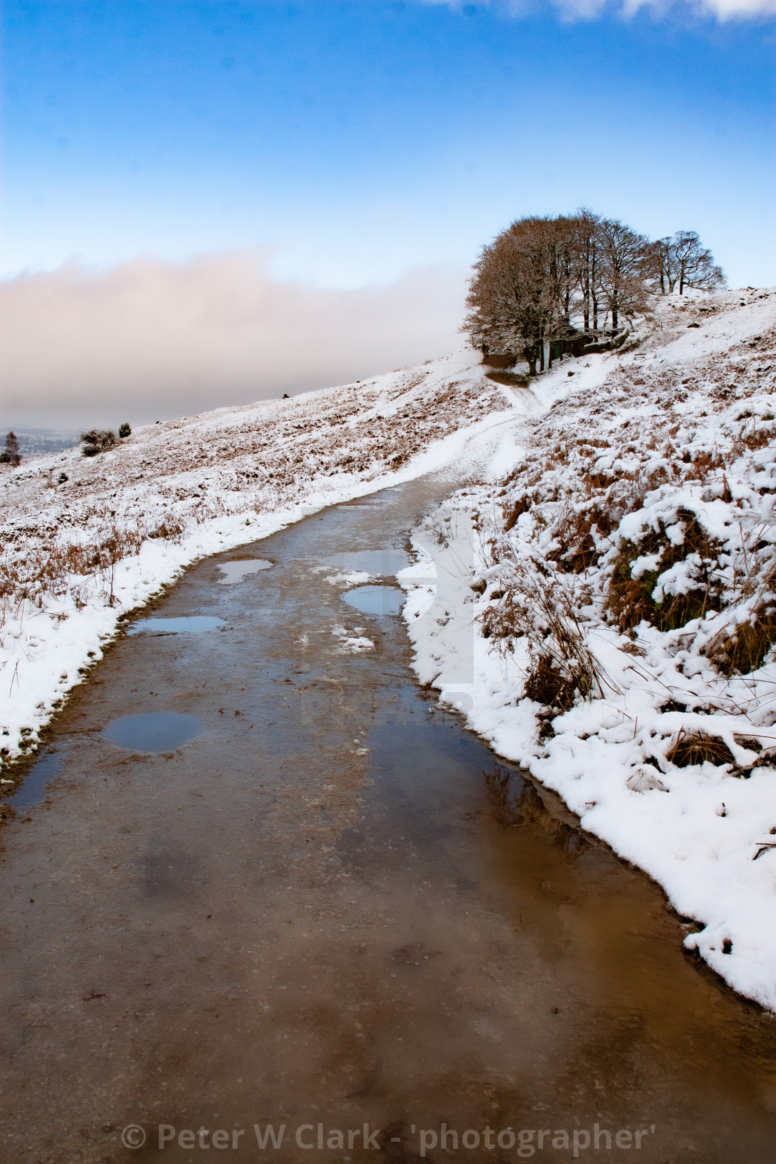 """Path/road Leading to White Wells Spa Bath at Ilkley Moor"" stock image"