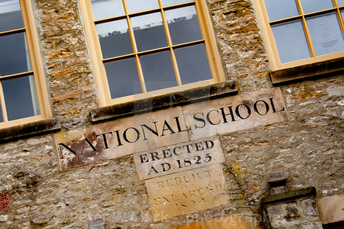 """National School, Richmond, North Yorkshire"" stock image"