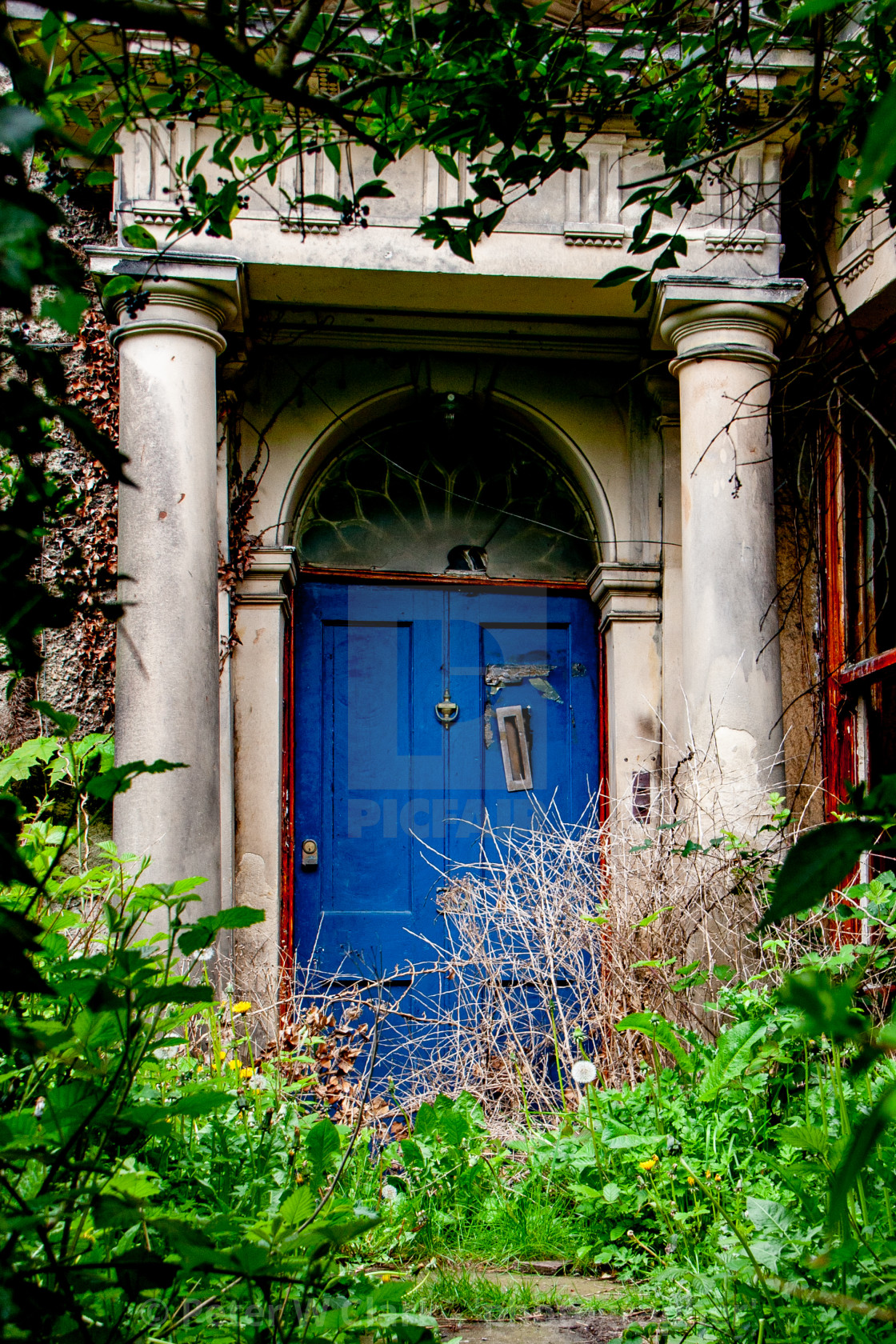 """Dilapidated Entrance to Georgian Property in Richmond, Yorkshire."" stock image"