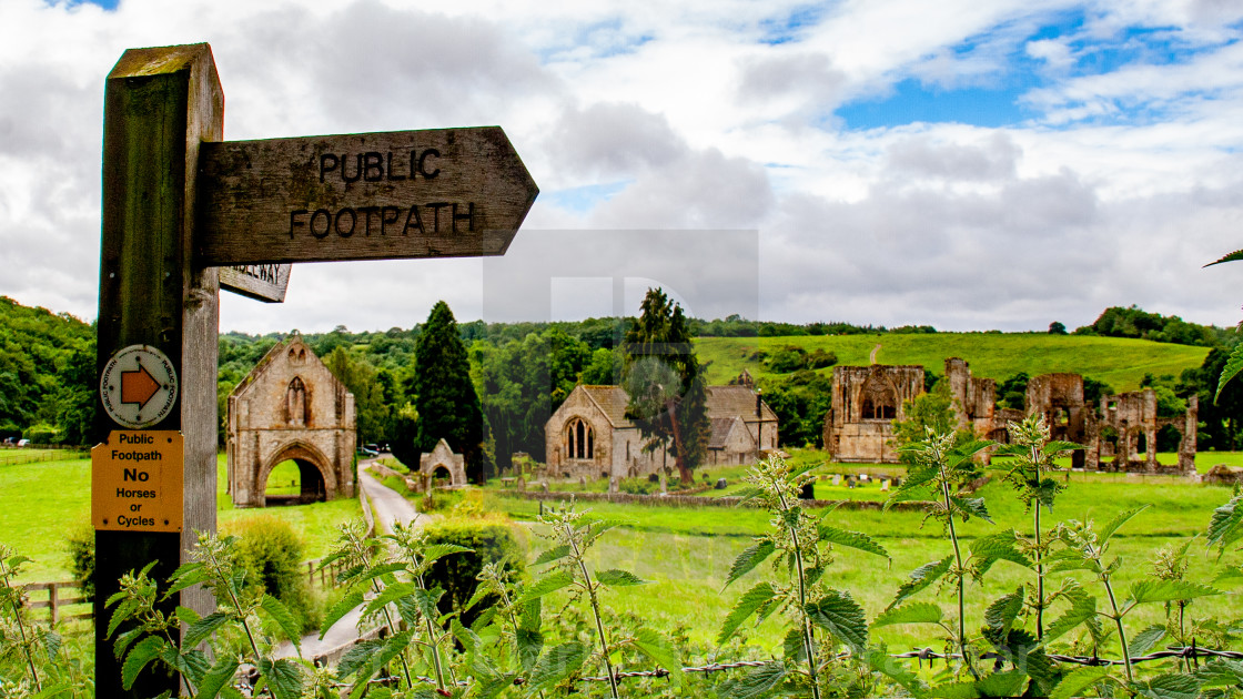 The Ruins of The Abbey of St Agatha, Easby, Nr Richmond, Yorkshire.