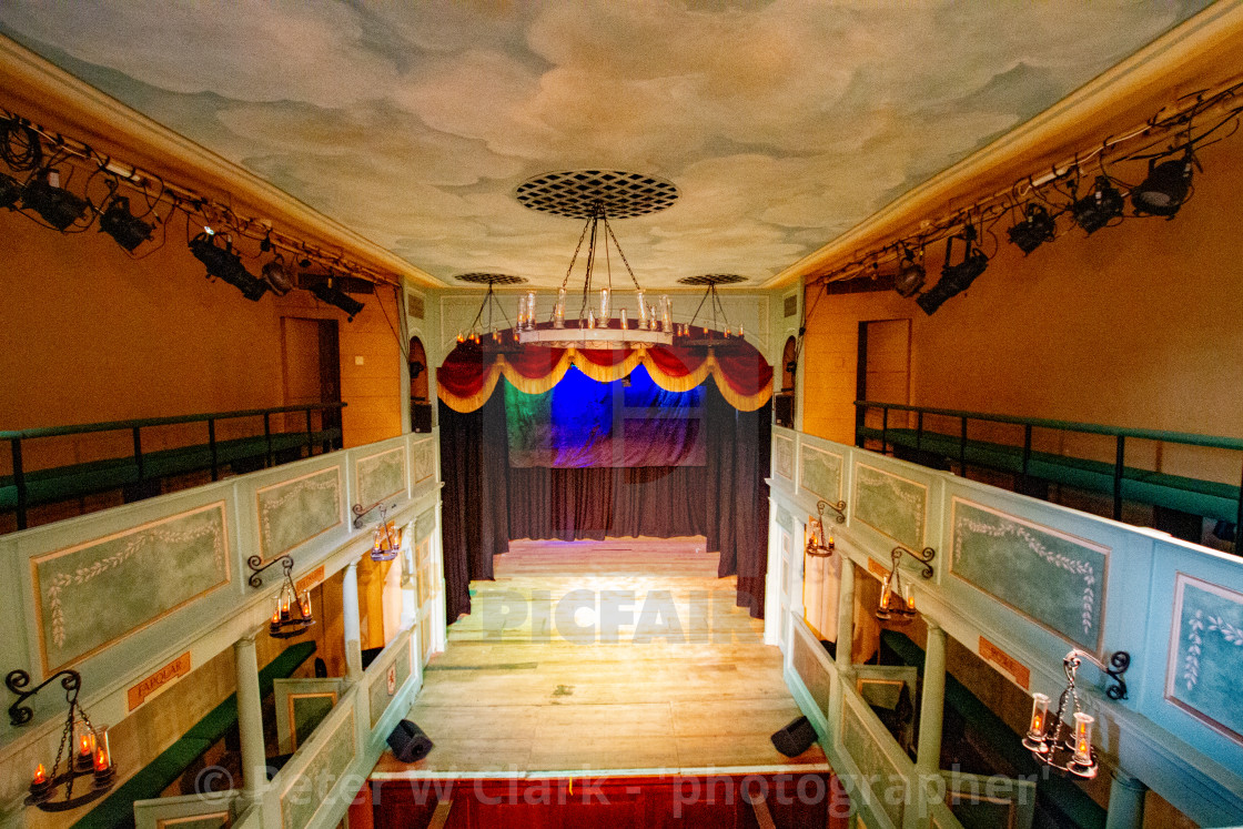 """The Georgian Theatre Royal Interior, Richmond, North Yorkshire."" stock image"
