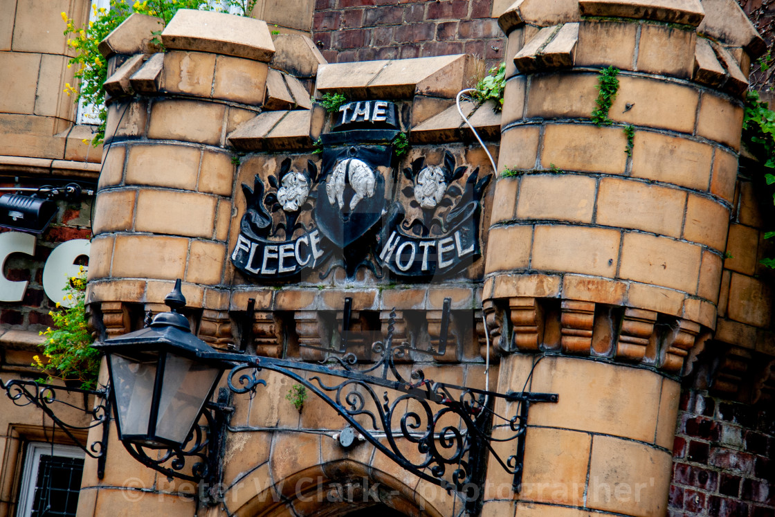 """The Fleece Hotel, Richmond, North Yorkshire"" stock image"