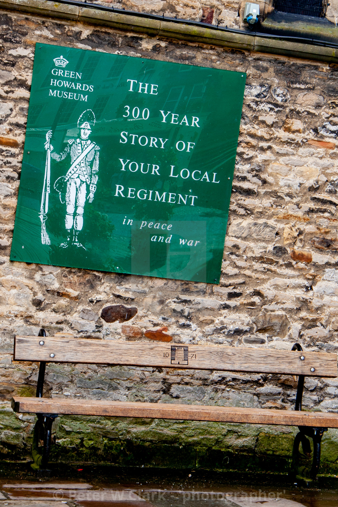 """The Green Howards Regimental Museum, Richmond, North Yorkshire."" stock image"