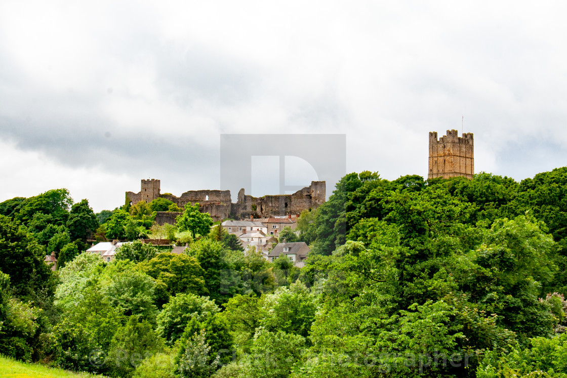 """Richmond Castle, North Yorkshire."" stock image"