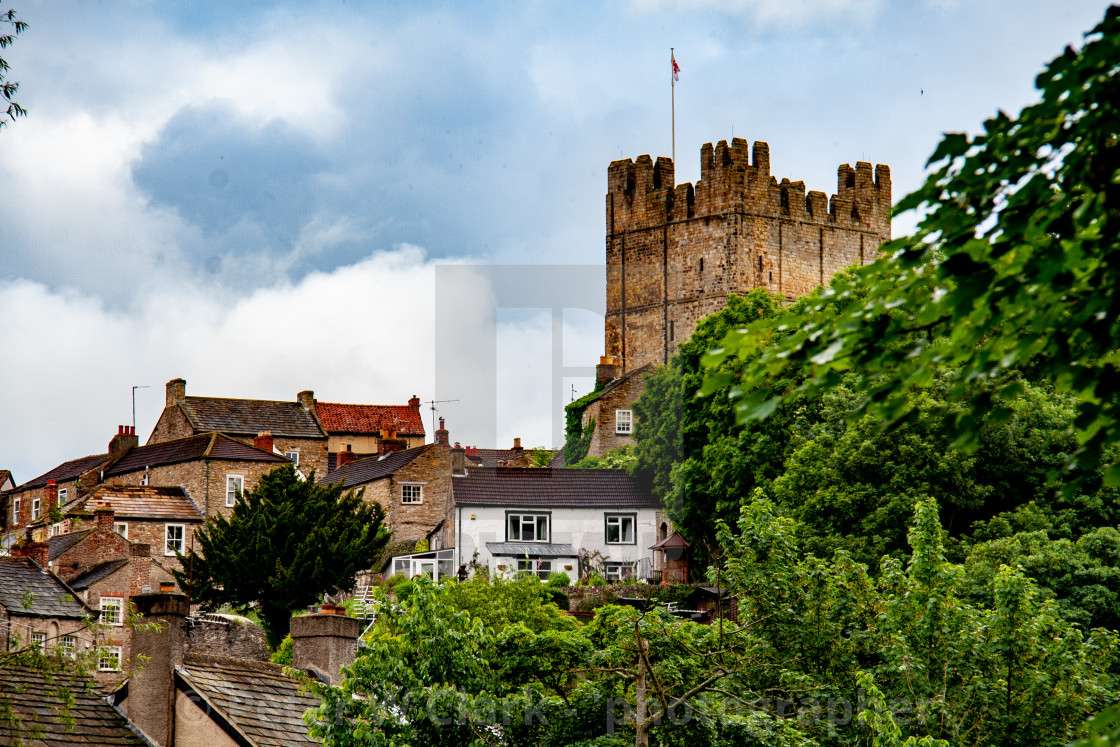 """Richmond Castle Keep, North Yorkshire."" stock image"