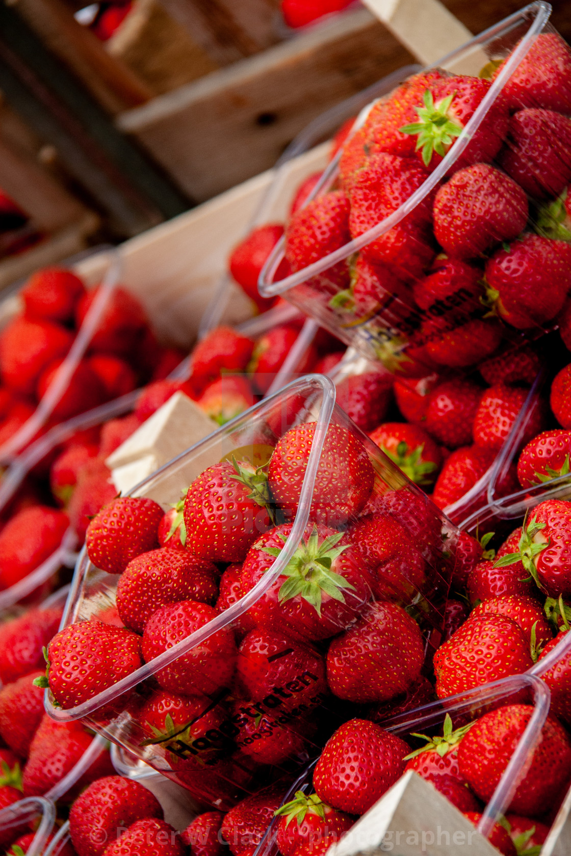 """""""Strawberries, a Punnet"""" stock image"""