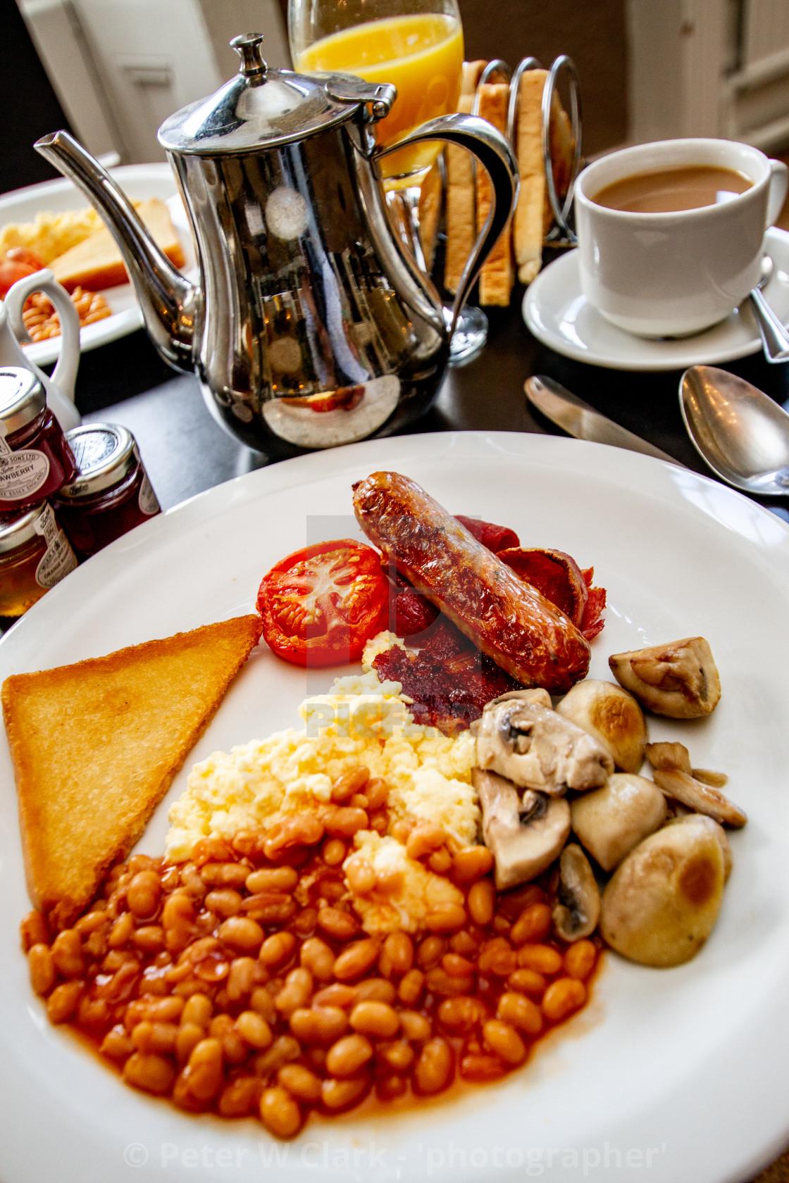 """English Breakfast, Coffee and Toast."" stock image"