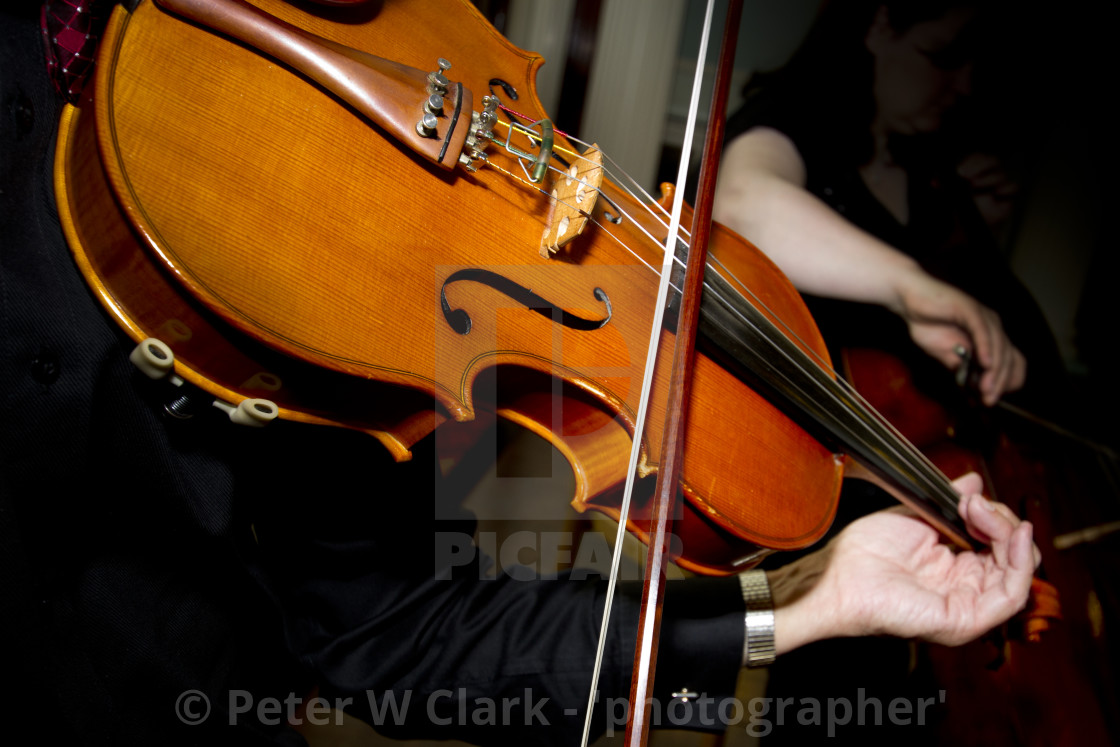 """Playing the Violin"" stock image"