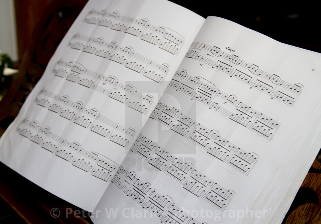 """Sheet Music"" stock image"