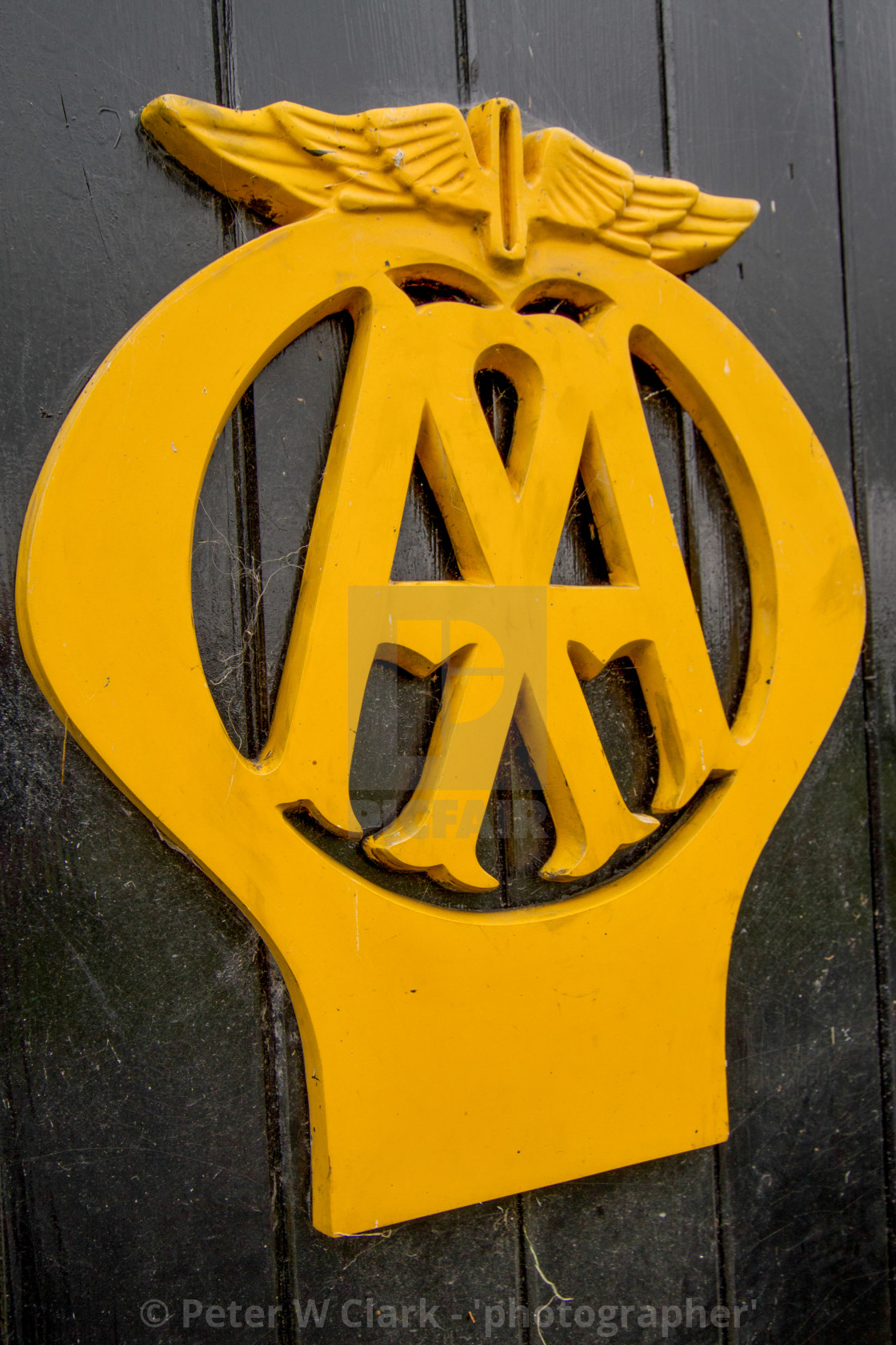 """AA Box no.442 nr. Aysgarth, Upper Wensleydale, Yorkshire."" stock image"
