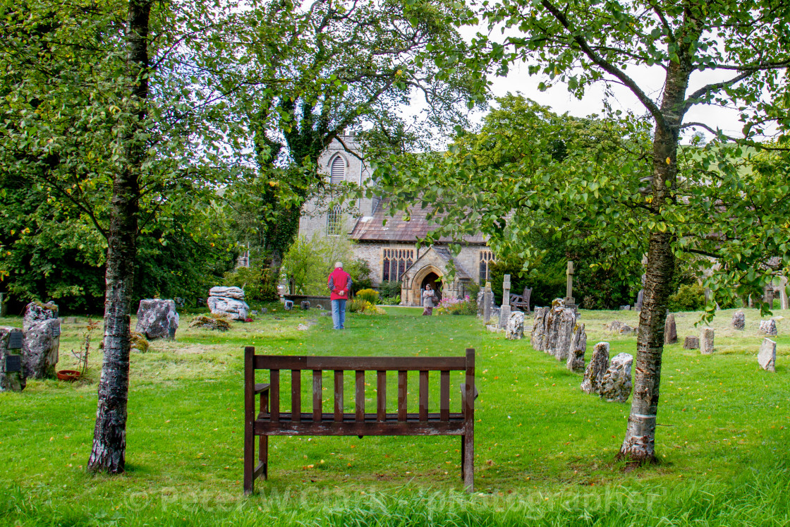 """""""St Mary's Church, in Kettlewell a Yorshire Dales Village."""" stock image"""